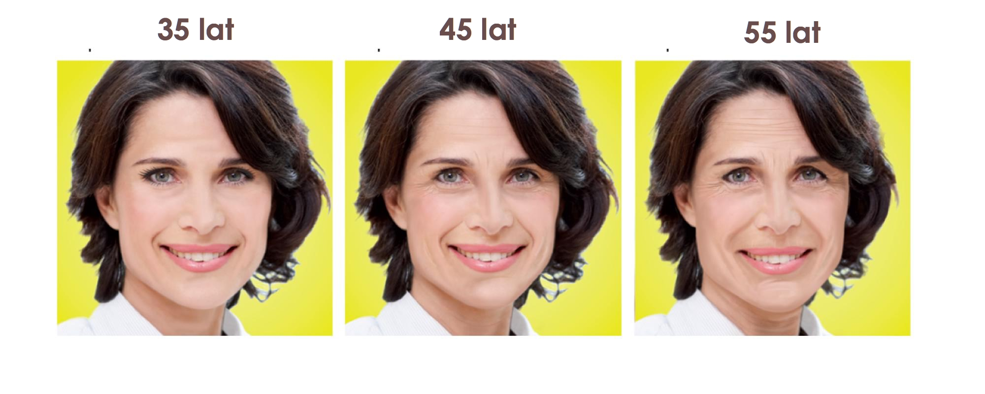 starzenie twarzy rok po roku